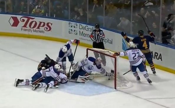 Edmonton Oilers vs. Buffalo Sabres - Goal Disallowed 2/3/14