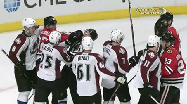 Linesman Andy McElman Takes a Punch