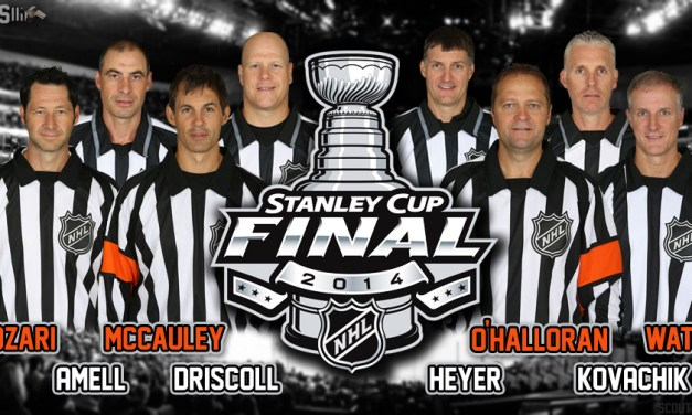 NHL Referees & Linesmen for Stanley Cup Final