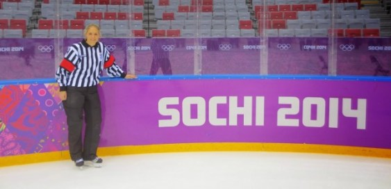 Joy Johnston at the 2014 Sochi Olympics (Photo: Joy Johnston)