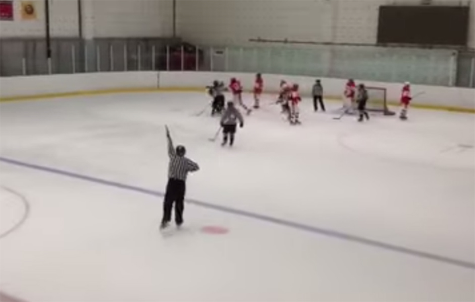 Russian Girl Breaks Hockey Stick Over Opponent's Head