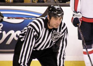 NHL Linesman Derek Amell