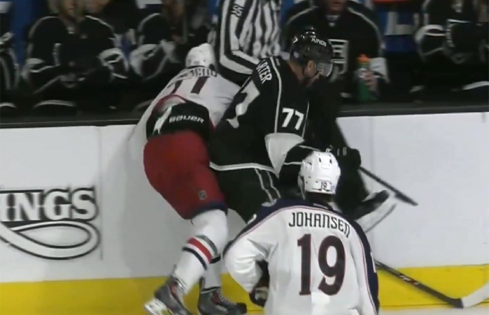 Blue Jackets' Foligno Injured After Collision with Linesman Shane Heyer