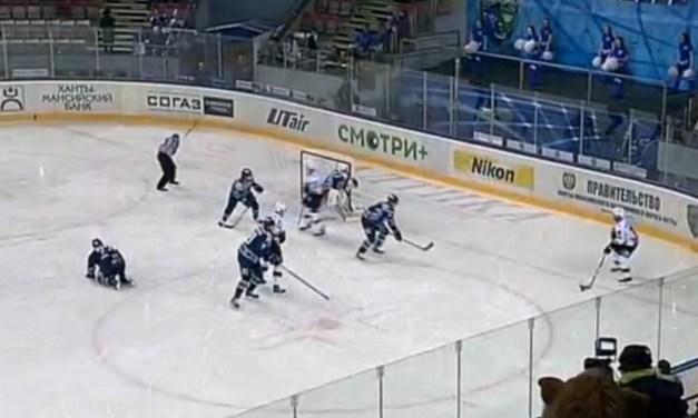 Injured KHL Player Throws Stick at Ref