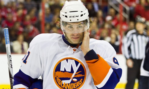 Isles' Tavares Spears Devils' Zidlicky, Dodges Major Penalty