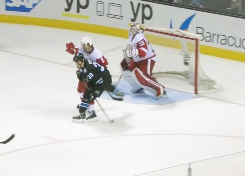 Sharks' Couture Fined $5,000 for Slew-Footing Wings' Smith
