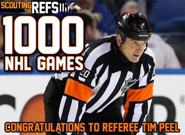 Referee Tim Peel to Work 1000th NHL Game