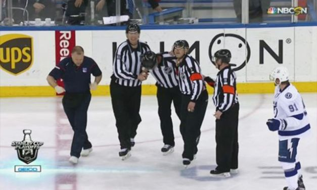 Linesman Brad Kovachik Injured, Out For Playoffs
