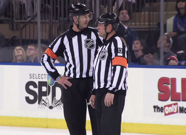 Tonight's NHL Playoff Referees & Linesmen – 5/22/15