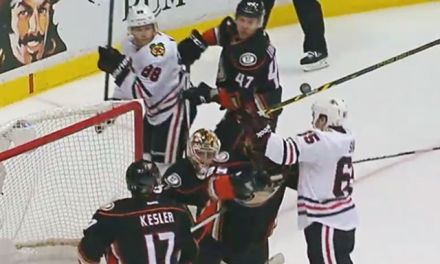 'No Goal' as Blackhawks' Shaw Attempts Header in OT
