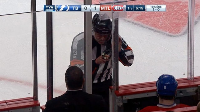 Referee Brad Watson