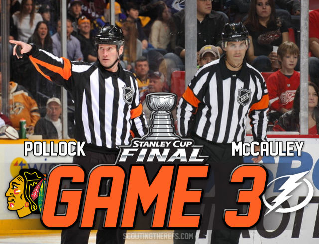 Tonight's Stanley Cup Final Referees & Linesmen – Game 3