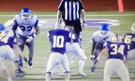 Referee Blindsided by Hit During High School Football Game