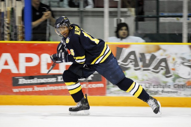 Before he became an NHL linesman, Shandor Alphonso was a rugged winger for Canada's Lakehead University