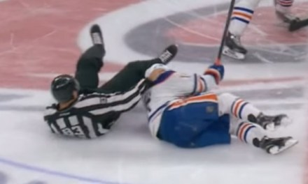 Oilers' Yakupov Injured During Collision With Linesman