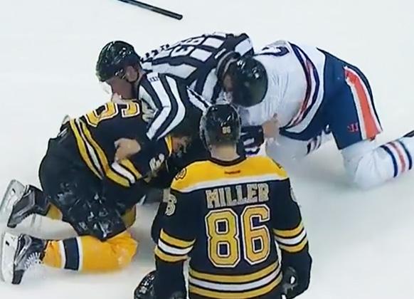Bruins' Rinaldo Claims Injury Was Caused By Linesman