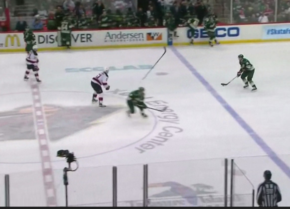 Wild's Parise Sends Opponent's Stick Flying, Avoids Penalty