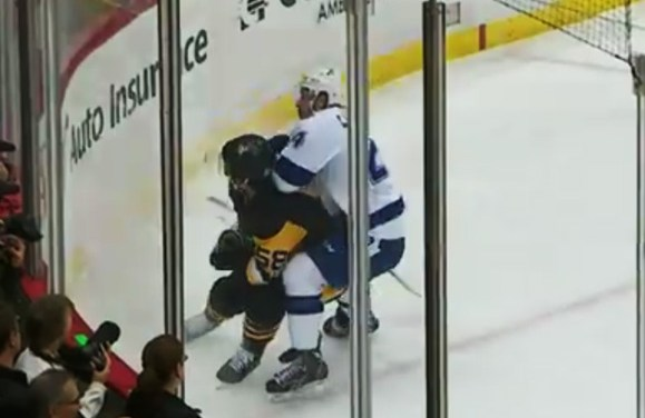 Bolts' Callahan Given Major for Hit on Pens' Letang