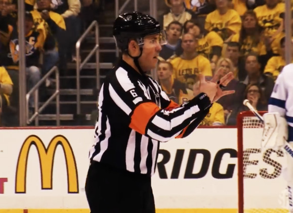 Referee Francis Charron Boarding Call