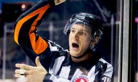 Referee Garrett Rank Juggling AHL Playoffs, Golf Tournament