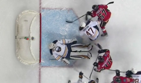 Flames' Frolik Beats Whistle to Score
