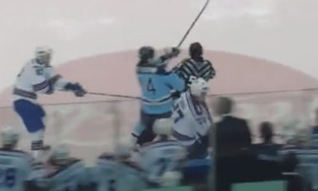 KHL Linesman Takes Out Player