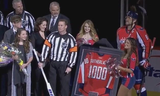 Referee Kelly Sutherland Celebrates 1000-Game Milestone