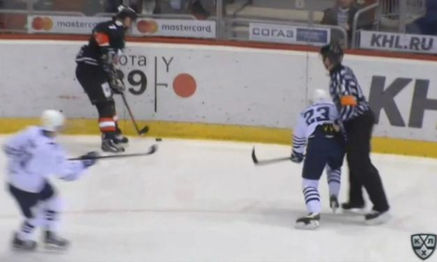 KHL Player Suspended For Checking Referee