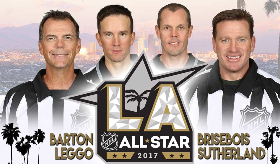 NHL 2017 All-Star Game Referees and Linesmen