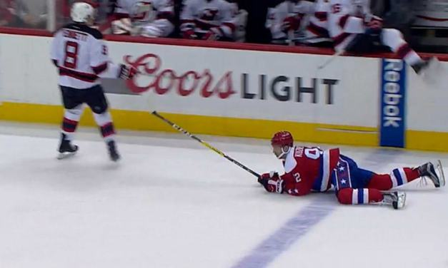 Caps' Kuznetsov Fined for Diving/Embellishment