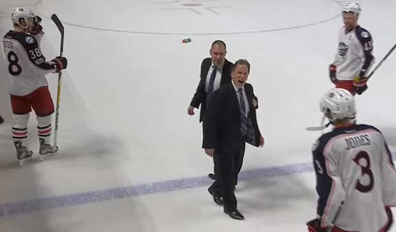 CBJ's Tortorella Not Happy After Overtime Penalty Leads to Goal