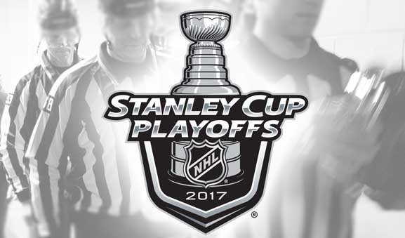 Today's NHL Playoff Referees & Linesmen – 5/8/17