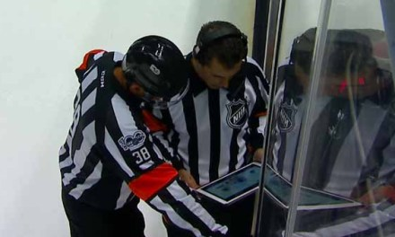 Referee Francois St. Laurent Injured at Rangers/Wild