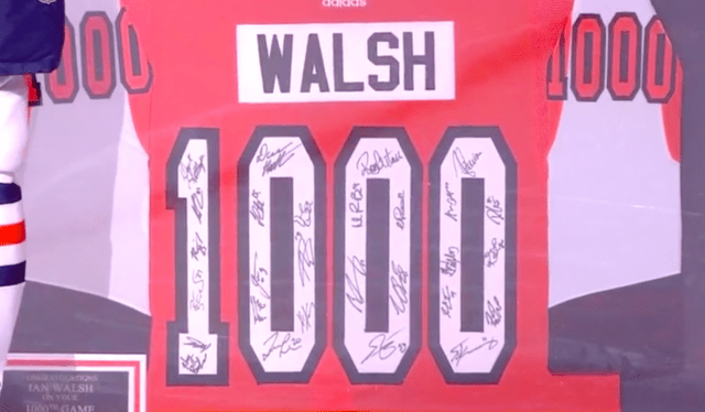 NHL Referee Ian Walsh Honored for 1000 Games