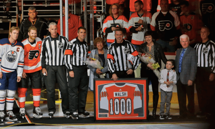Referee Ian Walsh Officiates 1000th NHL Game