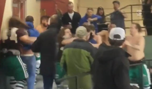 Players Enter Stands, Fight Fans After Beer Can Thrown On Ice