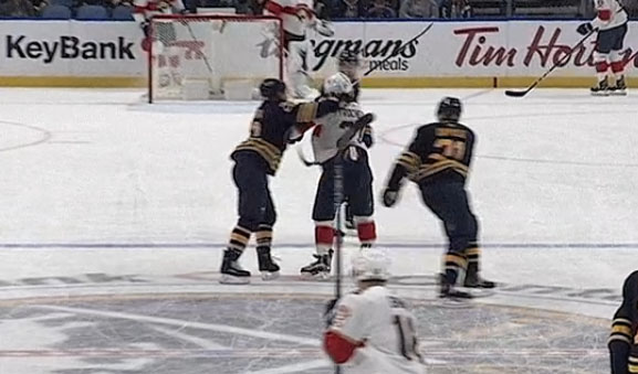 Sabres' Larsson Suspended Two Games for Cross-Checking