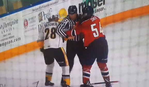 OHL's Smith Facing Abuse of Officials Suspension After Shoving Linesman