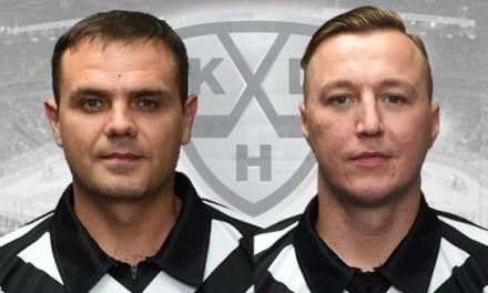 KHL Names Olenin, Sadovnikov as 2018 Golden Whistle Winners