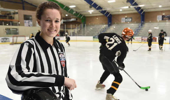 Ref Reading: Erie woman earns way to top as hockey official
