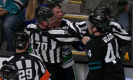Canucks' Roussel Fined $5,000 for Biting Sharks' Vlasic