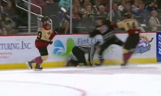 ECHL Linesman Charlie O'Connor Cut By Skate