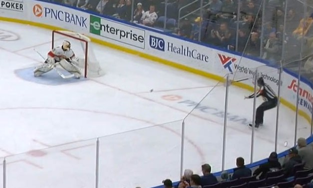 Blues Goal Disallowed After Shot Hits Ref, Beats Luongo