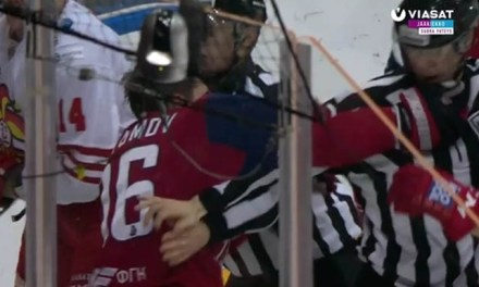 KHL Player Punches Linesman After Illegal Check