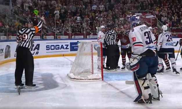 KHL Goaltender Suspended for Shooting Stick at Referee
