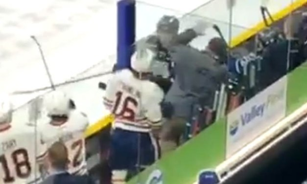 WHL Player Ejected for Swinging Stick at Opposing Bench