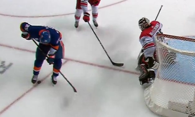 Isles Goal Waved Off After Kicked Puck Deflects In