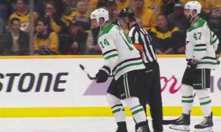 Stars' Benn Admonishes Ref Wes McCauley for Language