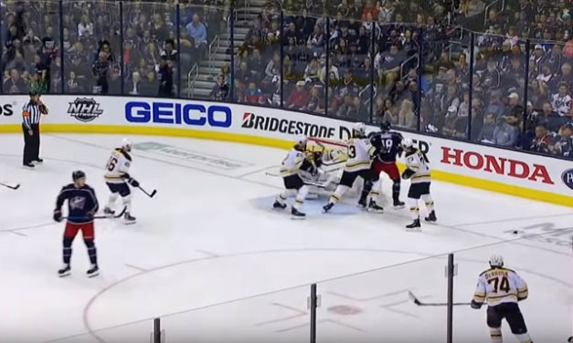 Blue Jackets Score After Puck Hits Netting