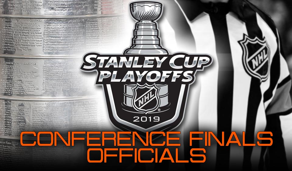 NHL Referees and Linesmen for Conference Finals of 2019 Stanley Cup Playoffs